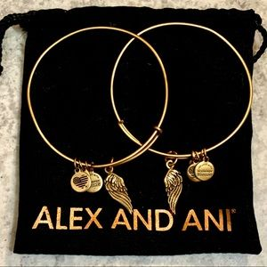 (2) Alex & Ani Wings Charm Bangles✨